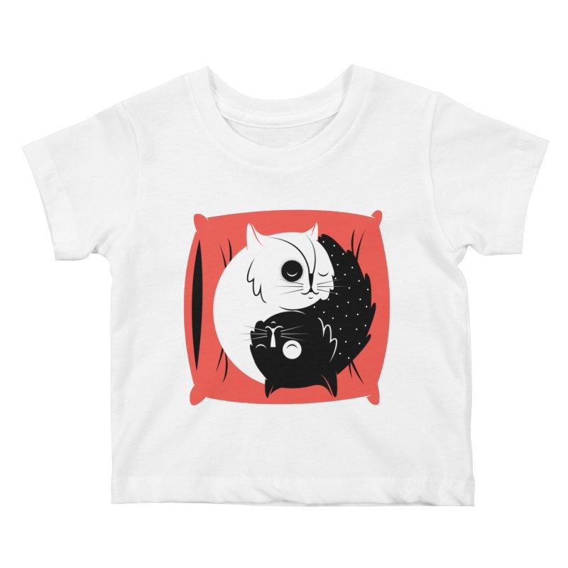 Zen cats Kids Baby T-Shirt by marcelocamacho's Artist Shop