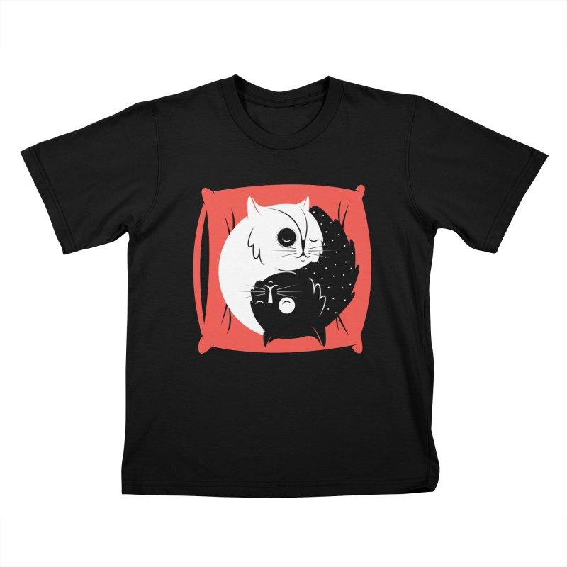 Zen cats Kids T-Shirt by marcelocamacho's Artist Shop