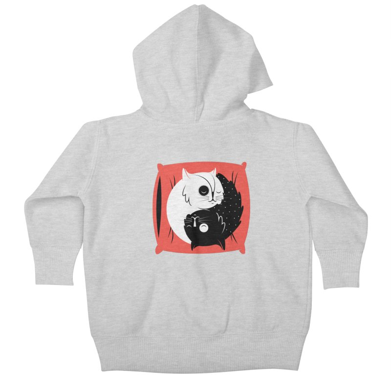 Zen cats Kids Baby Zip-Up Hoody by marcelocamacho's Artist Shop