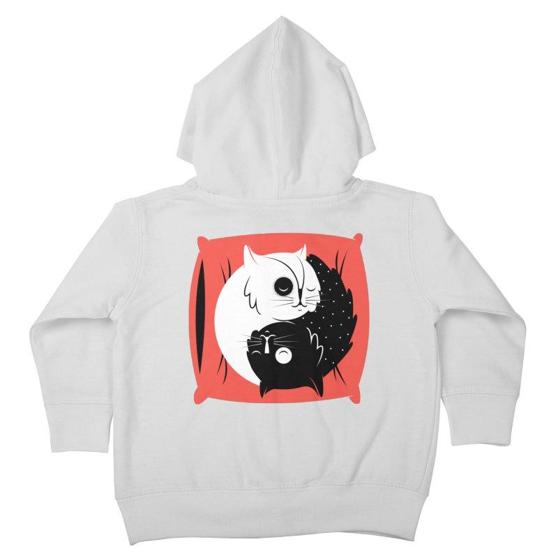 Zen cats Kids Toddler Zip-Up Hoody by marcelocamacho's Artist Shop