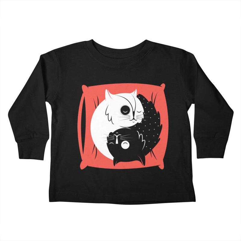 Zen cats Kids Toddler Longsleeve T-Shirt by marcelocamacho's Artist Shop