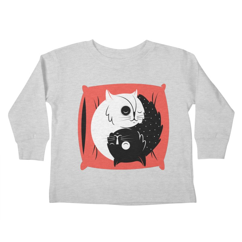 Zen cats Kids Toddler Longsleeve T-Shirt by marcelocamacho's Artist Shop