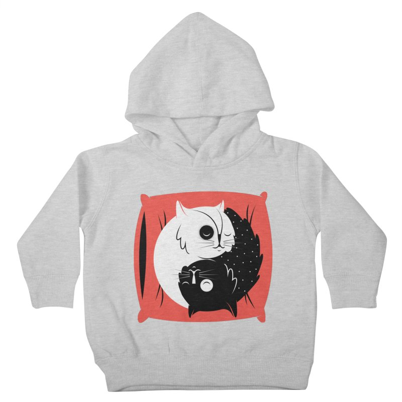 Zen cats Kids Toddler Pullover Hoody by marcelocamacho's Artist Shop