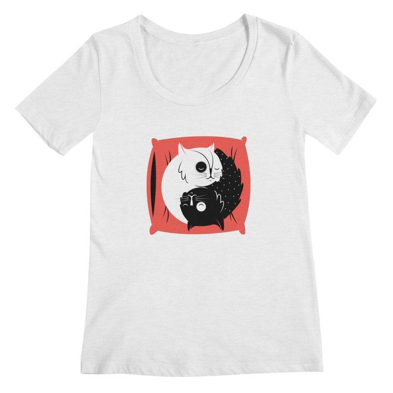 Zen cats Women's Regular Scoop Neck by marcelocamacho's Artist Shop