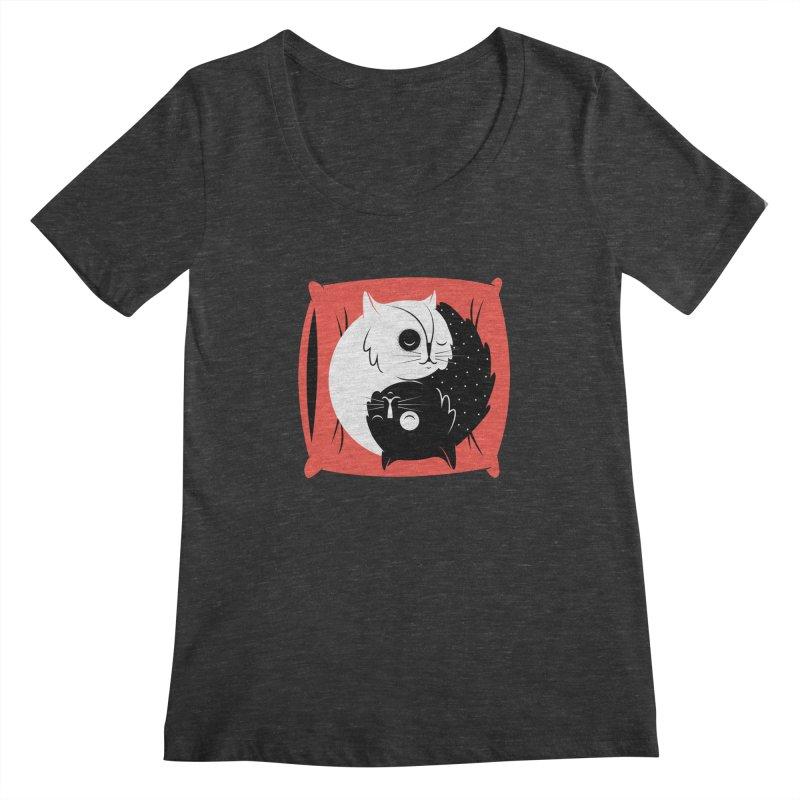 Zen cats Women's Scoopneck by marcelocamacho's Artist Shop