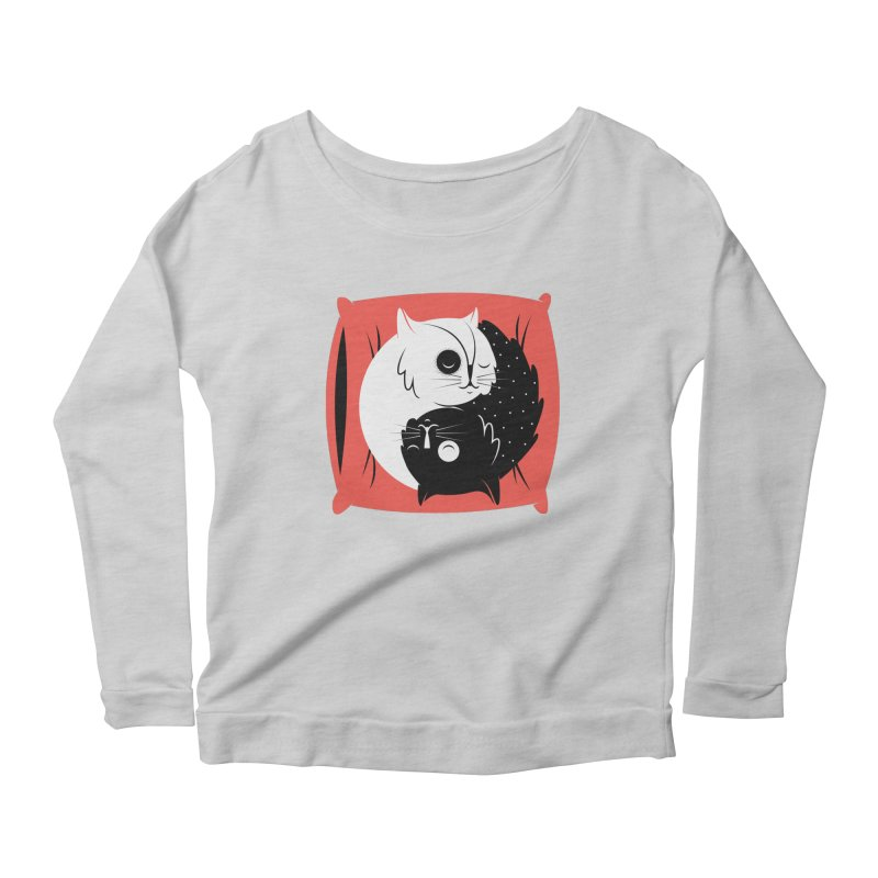Zen cats Women's Scoop Neck Longsleeve T-Shirt by marcelocamacho's Artist Shop