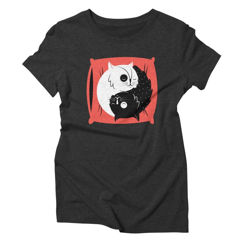 Zen cats Women's Triblend T-shirt by marcelocamacho's Artist Shop
