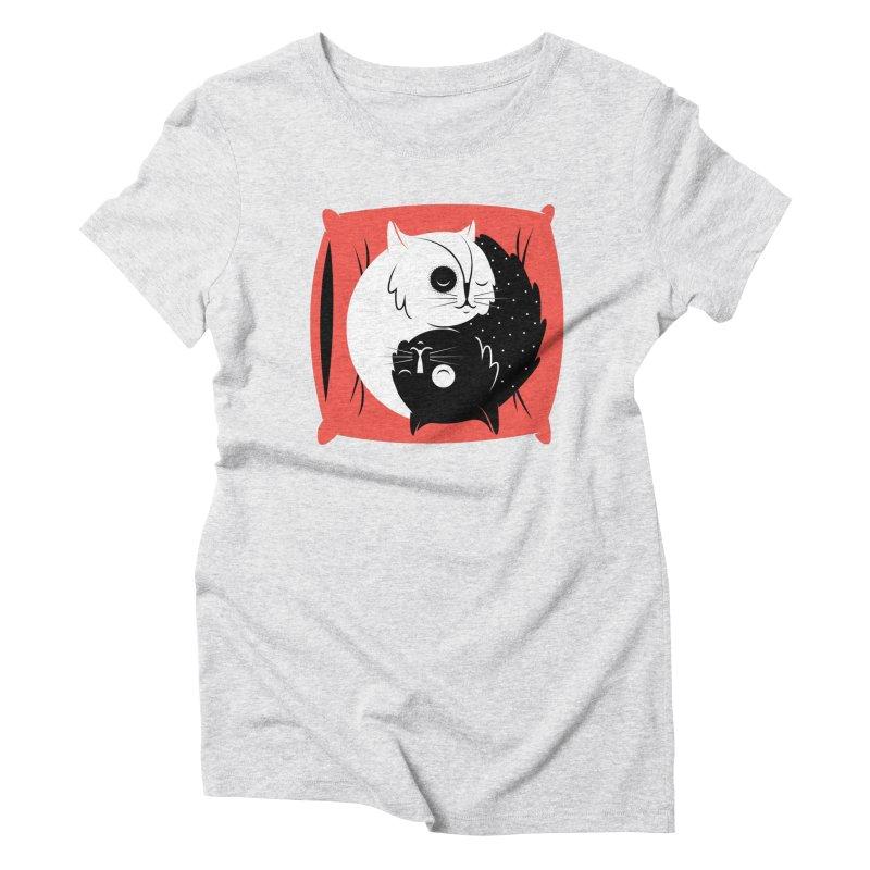Zen cats Women's Triblend T-Shirt by marcelocamacho's Artist Shop