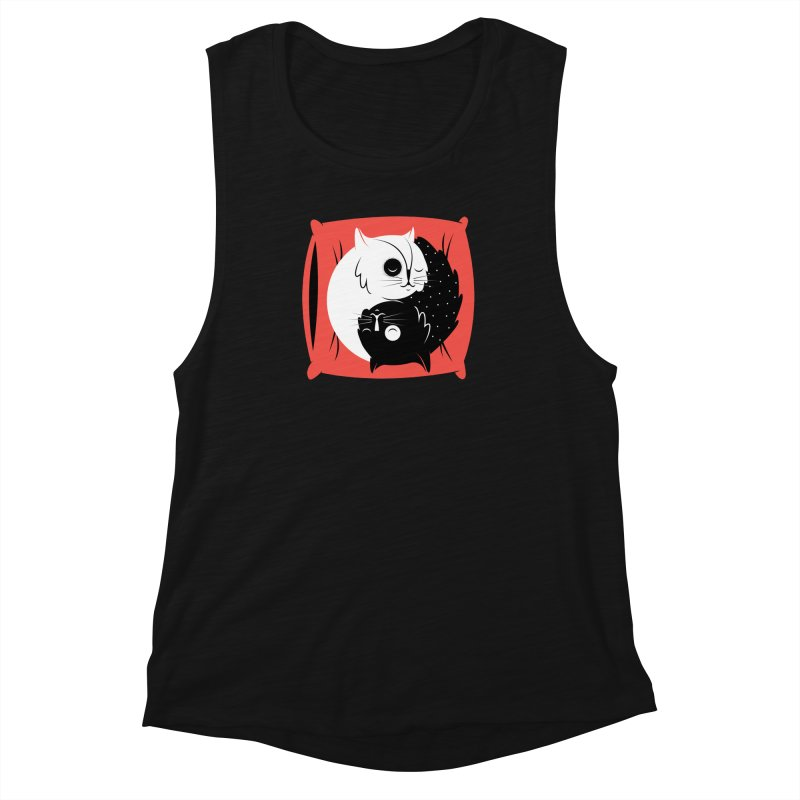 Zen cats Women's Muscle Tank by marcelocamacho's Artist Shop