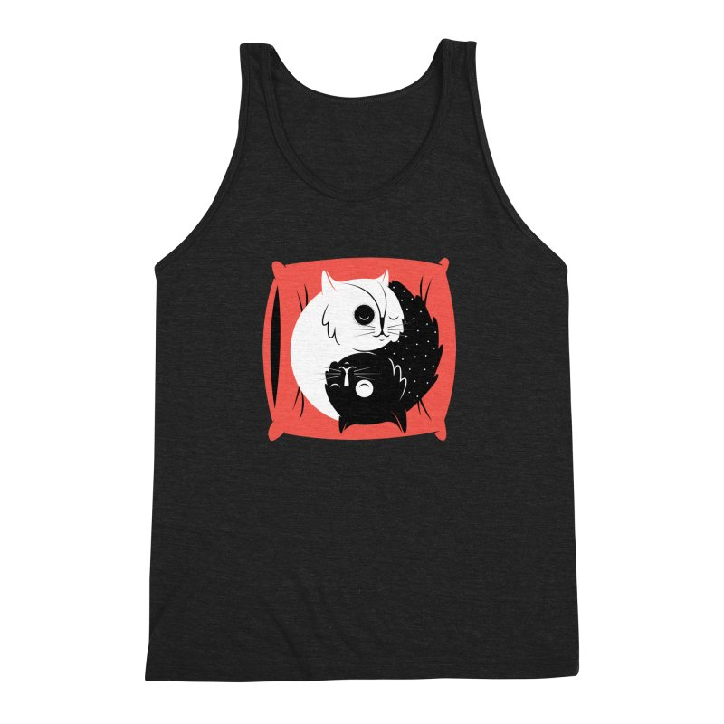 Zen cats Men's Triblend Tank by marcelocamacho's Artist Shop