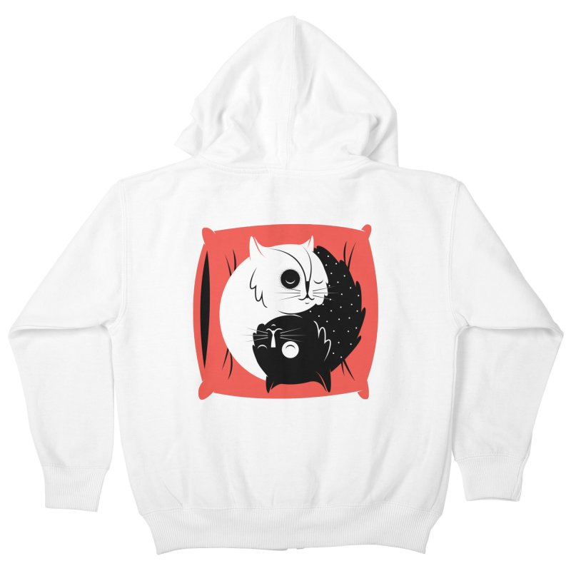 Zen cats Kids Zip-Up Hoody by marcelocamacho's Artist Shop
