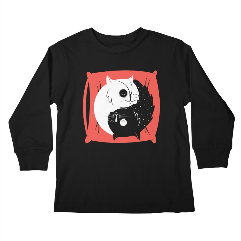 Zen cats Kids Longsleeve T-Shirt by marcelocamacho's Artist Shop