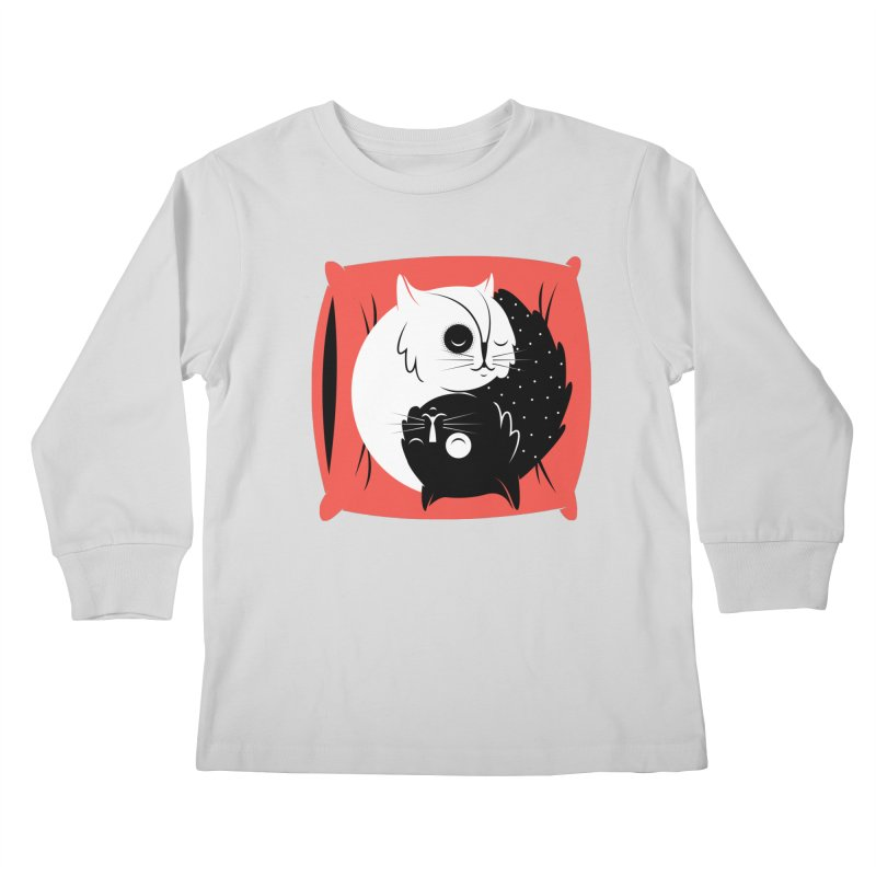 Zen cats Kids Longsleeve T-Shirt by marcelocamacho's Artist Shop