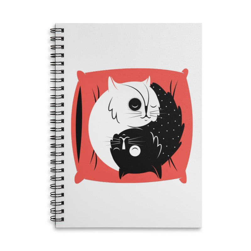 Zen cats Accessories Lined Spiral Notebook by marcelocamacho's Artist Shop