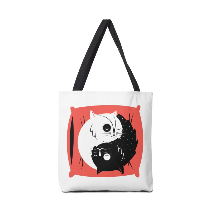 Zen cats Accessories Tote Bag Bag by marcelocamacho's Artist Shop