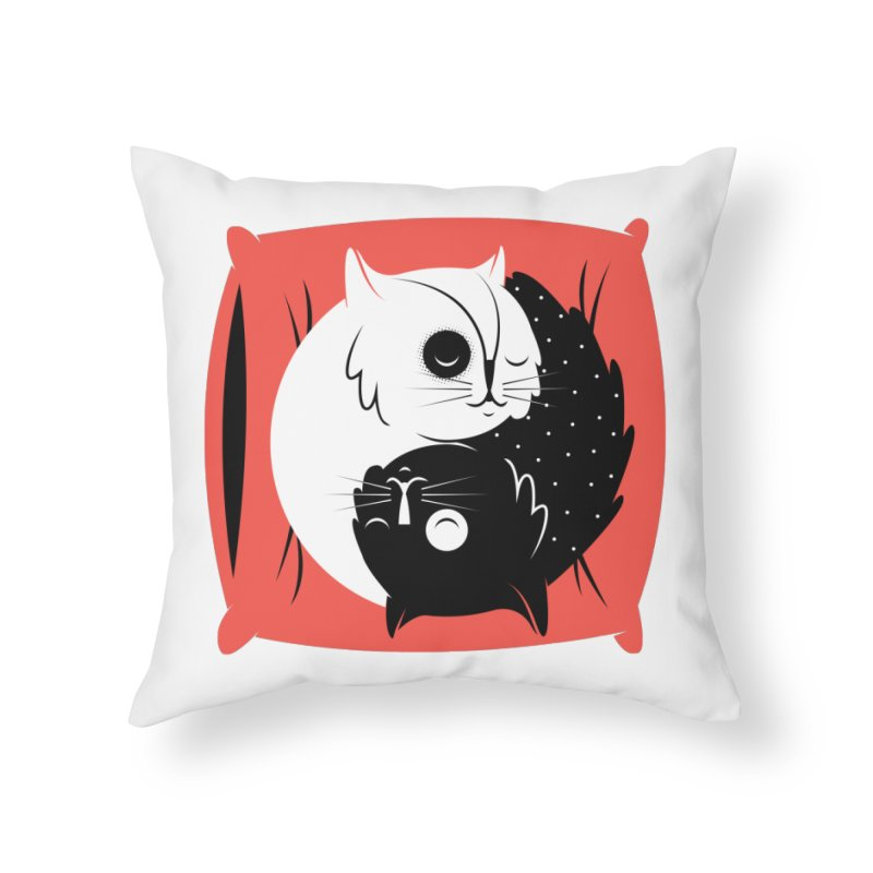 Zen cats Home Throw Pillow by marcelocamacho's Artist Shop