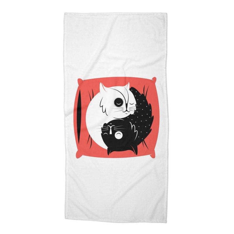 Zen cats Accessories Beach Towel by marcelocamacho's Artist Shop
