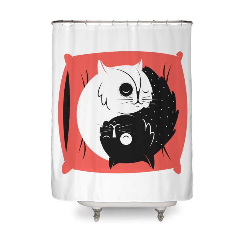 Zen cats Home Shower Curtain by marcelocamacho's Artist Shop