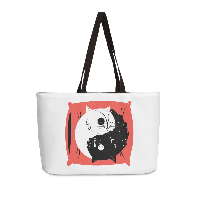 Zen cats Accessories Weekender Bag Bag by marcelocamacho's Artist Shop