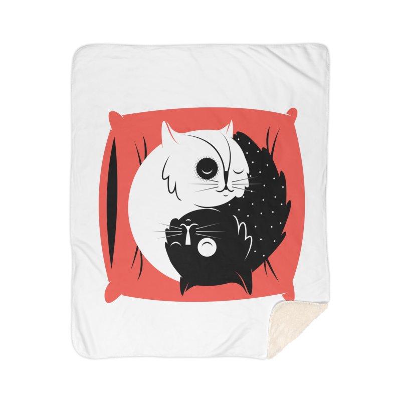 Zen cats Home Sherpa Blanket Blanket by marcelocamacho's Artist Shop