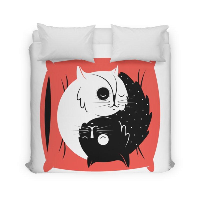 Zen cats Home Duvet by marcelocamacho's Artist Shop