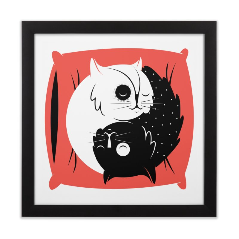 Zen cats Home Framed Fine Art Print by marcelocamacho's Artist Shop