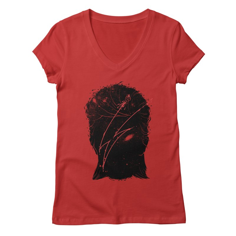 Starman Women's V-Neck by marcelocamacho's Artist Shop
