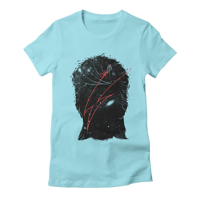 Starman Women's Fitted T-Shirt by marcelocamacho's Artist Shop