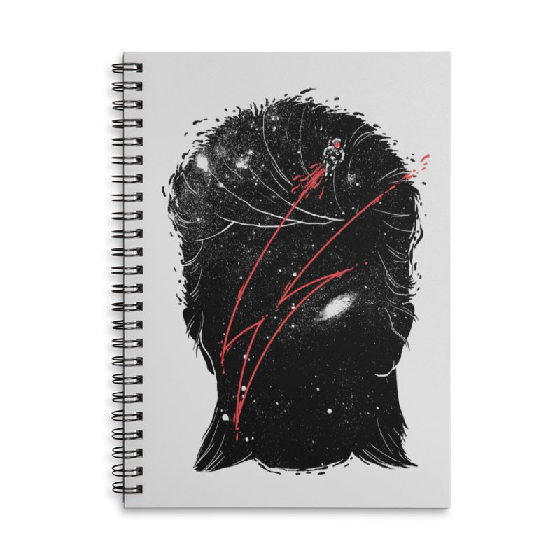 Starman Accessories Lined Spiral Notebook by marcelocamacho's Artist Shop