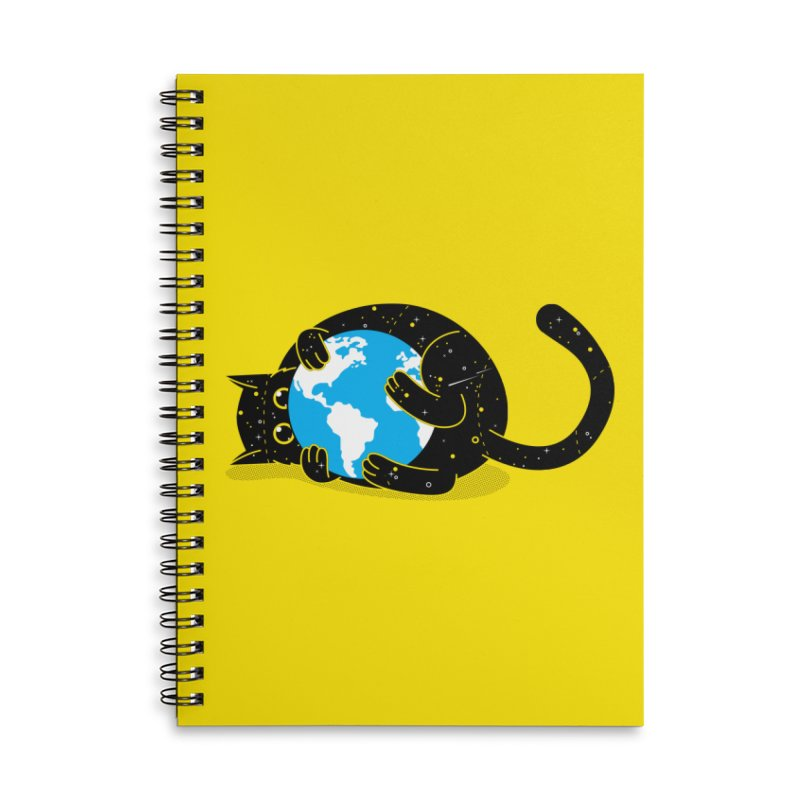 Playing with universe Accessories Lined Spiral Notebook by marcelocamacho's Artist Shop