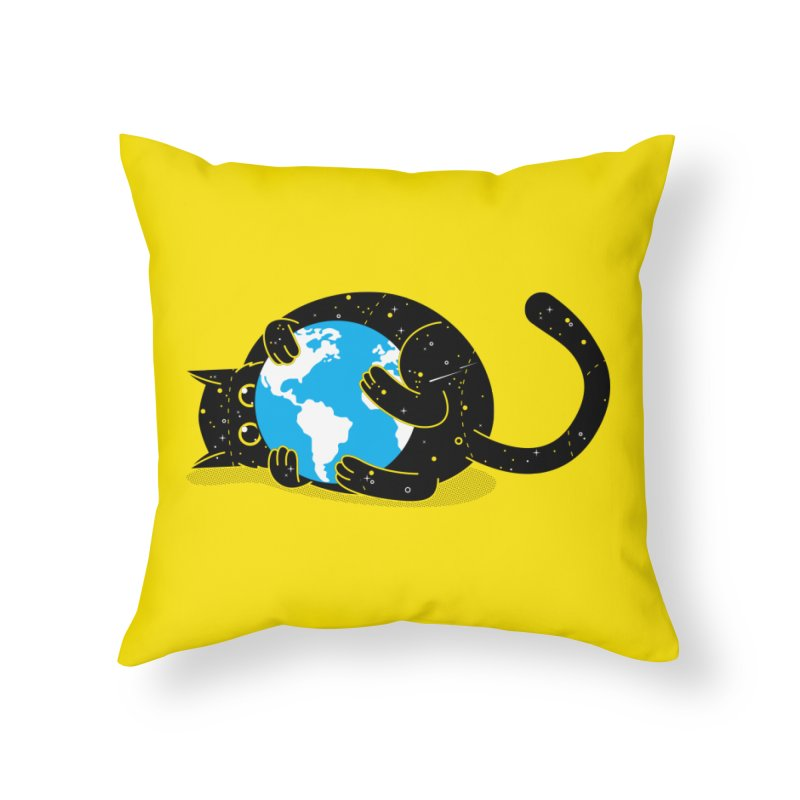 Playing with universe Home Throw Pillow by marcelocamacho's Artist Shop