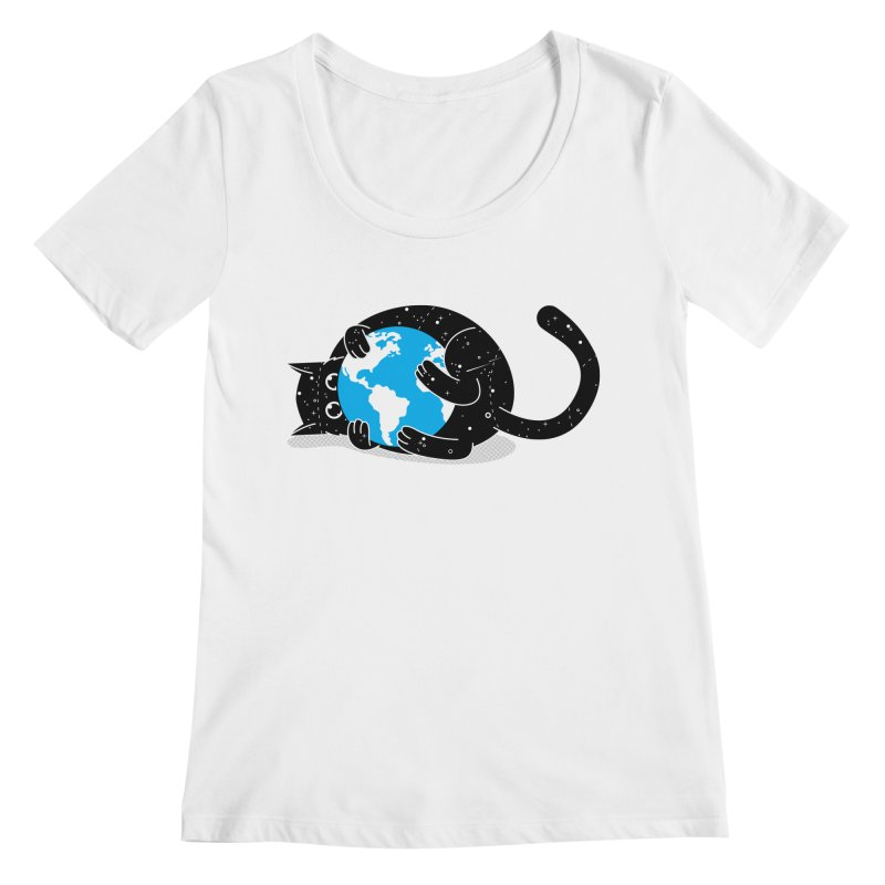 Playing with universe Women's Regular Scoop Neck by marcelocamacho's Artist Shop