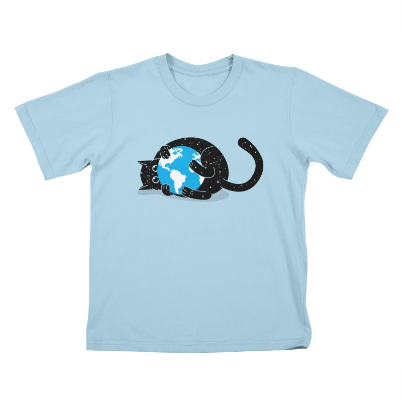 Playing with universe Kids T-Shirt by marcelocamacho's Artist Shop