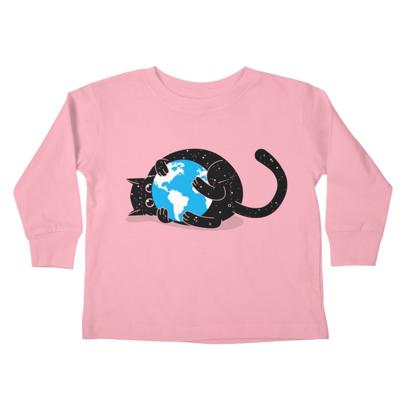 Playing with universe Kids Toddler Longsleeve T-Shirt by marcelocamacho's Artist Shop