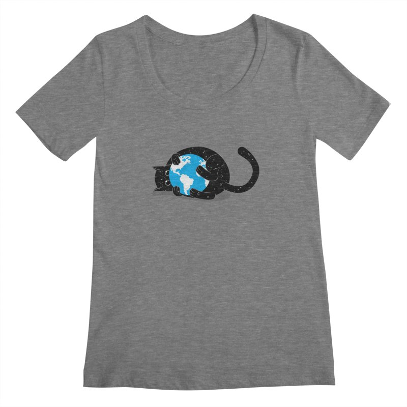 Playing with universe Women's Scoopneck by marcelocamacho's Artist Shop