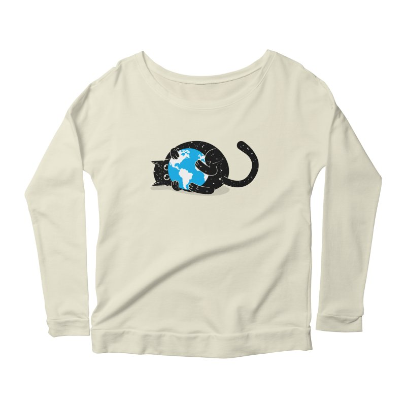 Playing with universe Women's Longsleeve Scoopneck  by marcelocamacho's Artist Shop