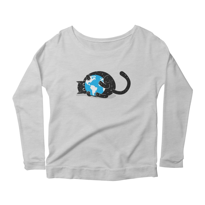 Playing with universe Women's Scoop Neck Longsleeve T-Shirt by marcelocamacho's Artist Shop