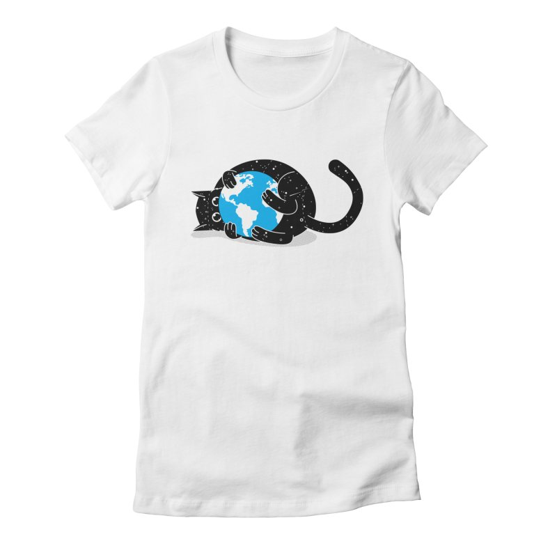 Playing with universe Women's Fitted T-Shirt by marcelocamacho's Artist Shop