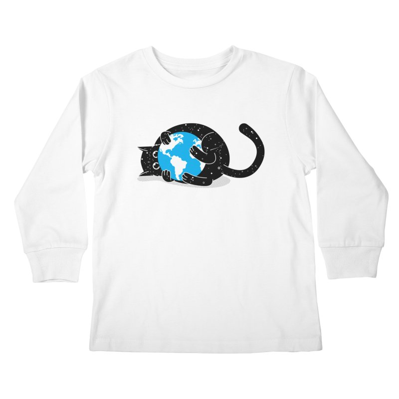 Playing with universe Kids Longsleeve T-Shirt by marcelocamacho's Artist Shop