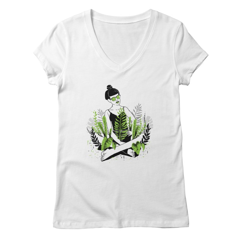 Beauty of nature Women's Regular V-Neck by marcelocamacho's Artist Shop