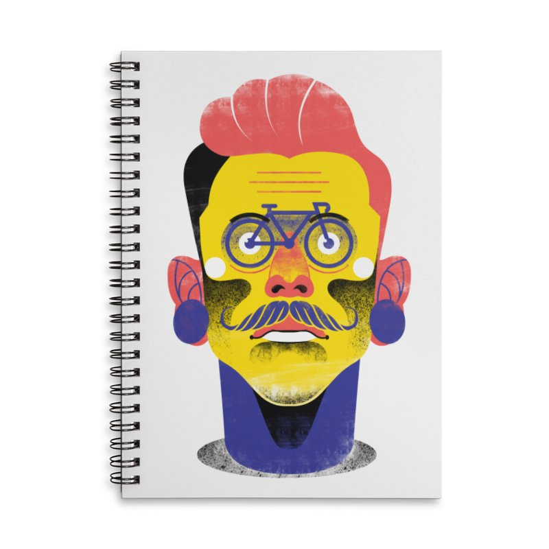 See through bike Accessories Lined Spiral Notebook by marcelocamacho's Artist Shop