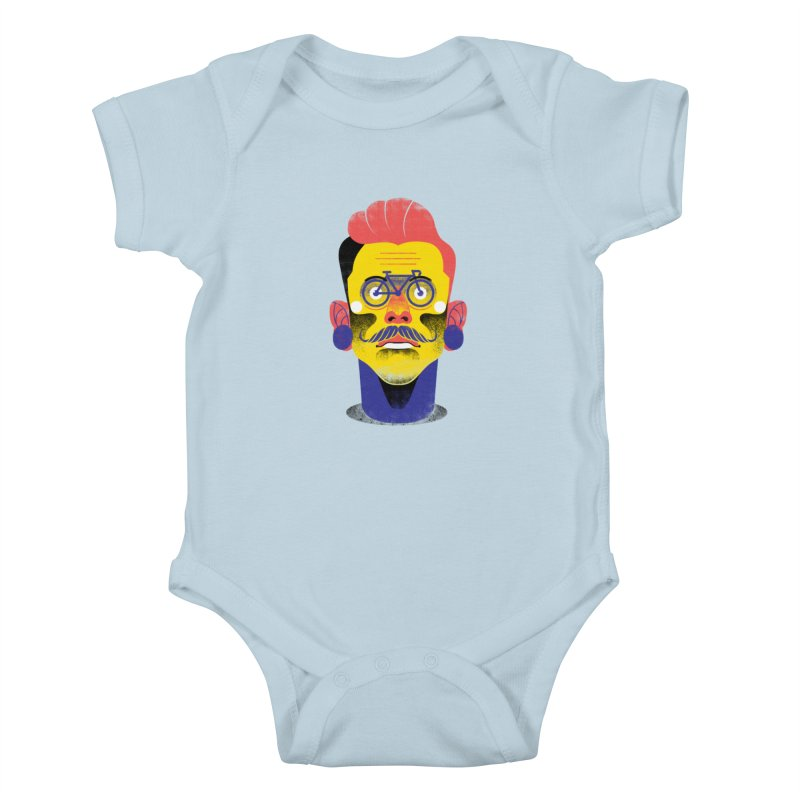 See through bike Kids Baby Bodysuit by marcelocamacho's Artist Shop