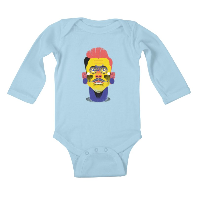 See through bike Kids Baby Longsleeve Bodysuit by marcelocamacho's Artist Shop