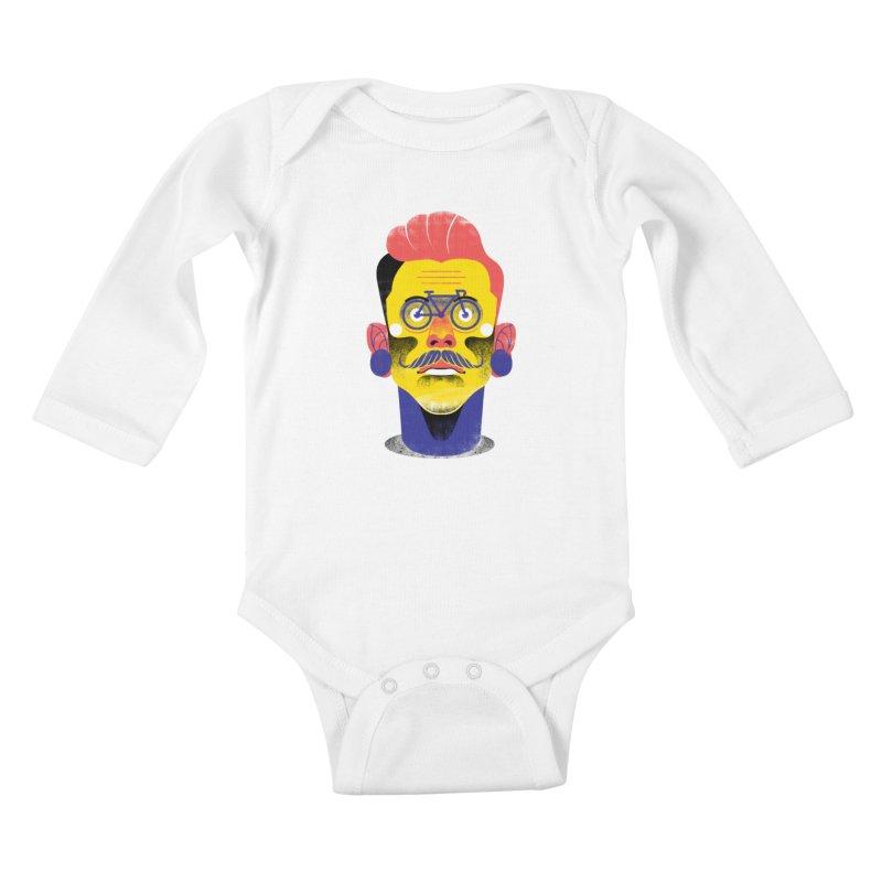 See through bike Kids Baby Longsleeve Bodysuit by marcelocamacho's Artist Shop