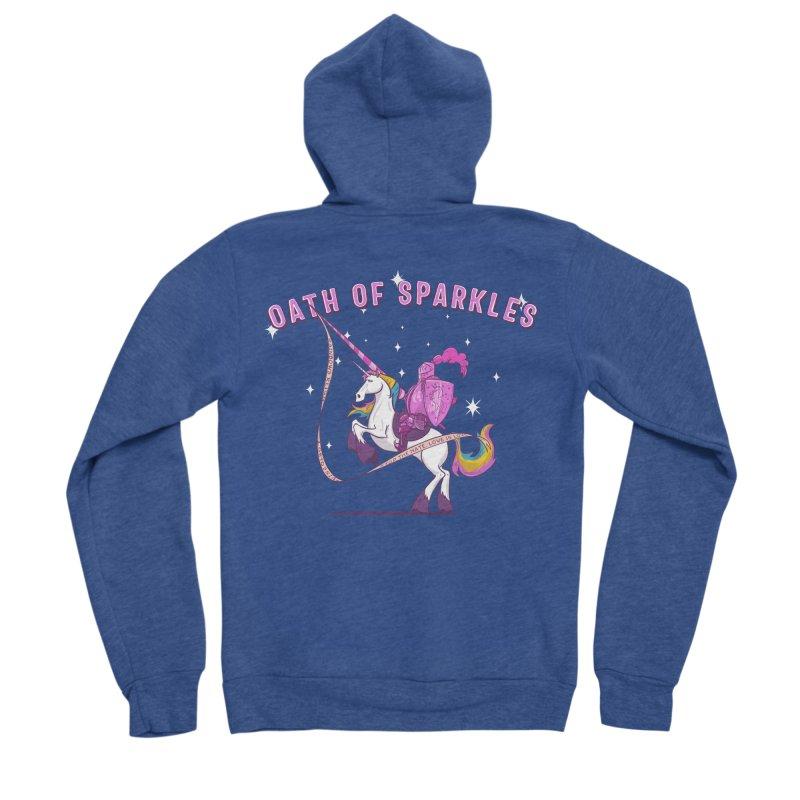 The Oath of Sparkles Women's Sponge Fleece Zip-Up Hoody by March1Studios on Threadless