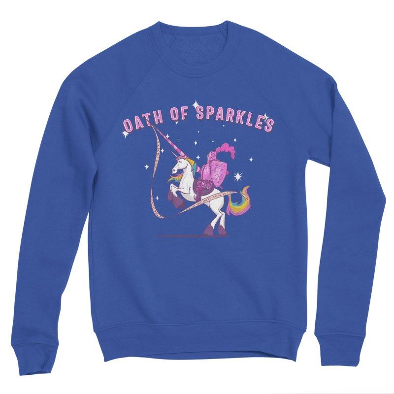 The Oath of Sparkles Women's Sponge Fleece Sweatshirt by March1Studios on Threadless