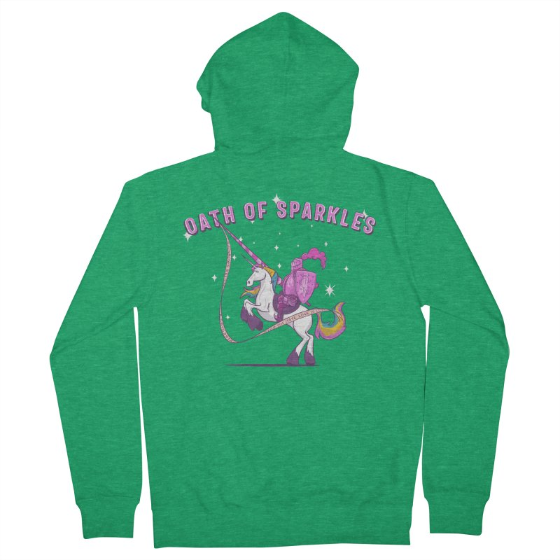 The Oath of Sparkles Men's French Terry Zip-Up Hoody by March1Studios on Threadless