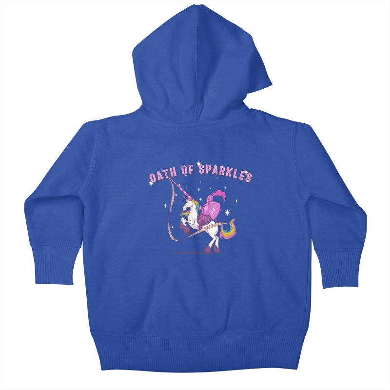The Oath of Sparkles Kids Baby Zip-Up Hoody by March1Studios on Threadless