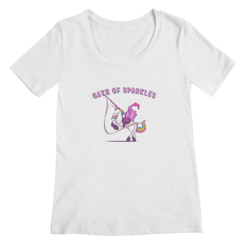 The Oath of Sparkles Women's Regular Scoop Neck by March1Studios on Threadless