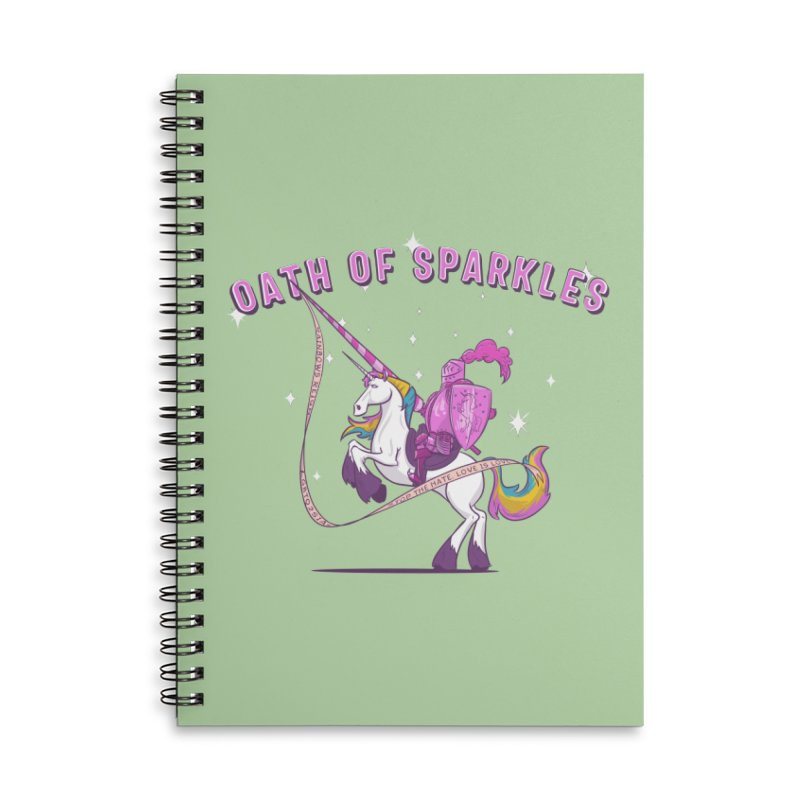 The Oath of Sparkles Accessories Lined Spiral Notebook by March1Studios on Threadless